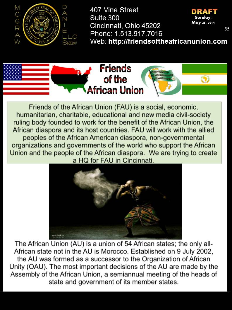 The Friends of the African Union (FAU)