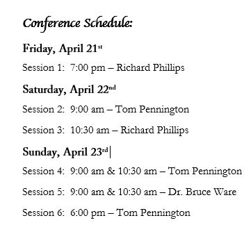 Sola Conference Schedule 2017