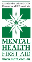Accredited to deliver MHFA Courses by MHFA Australia