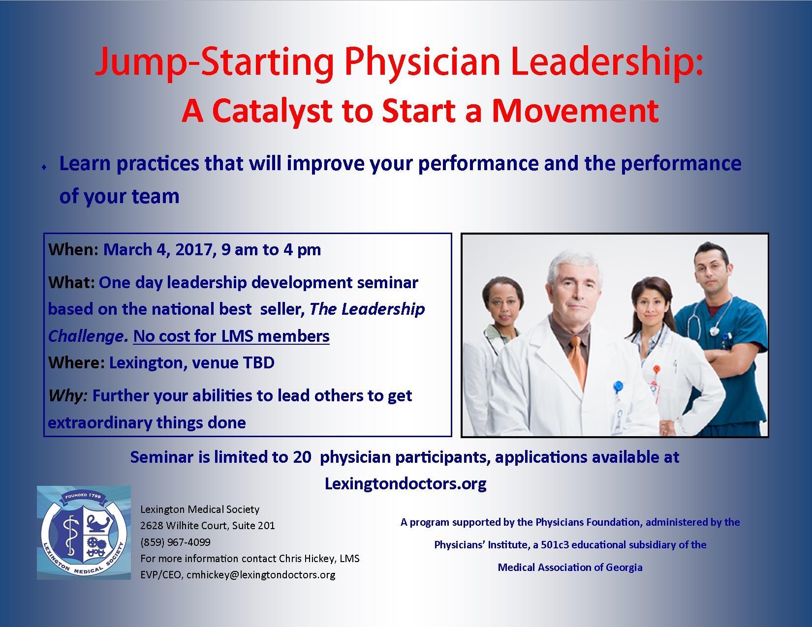 Jump-Starting Physician Leaderhip