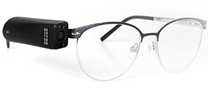 OrCam MyEye 2 mounted on a pair of glasses