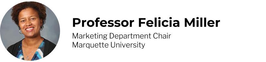 Professor Felicia Miller, Marketing Department Chair, Marquette University