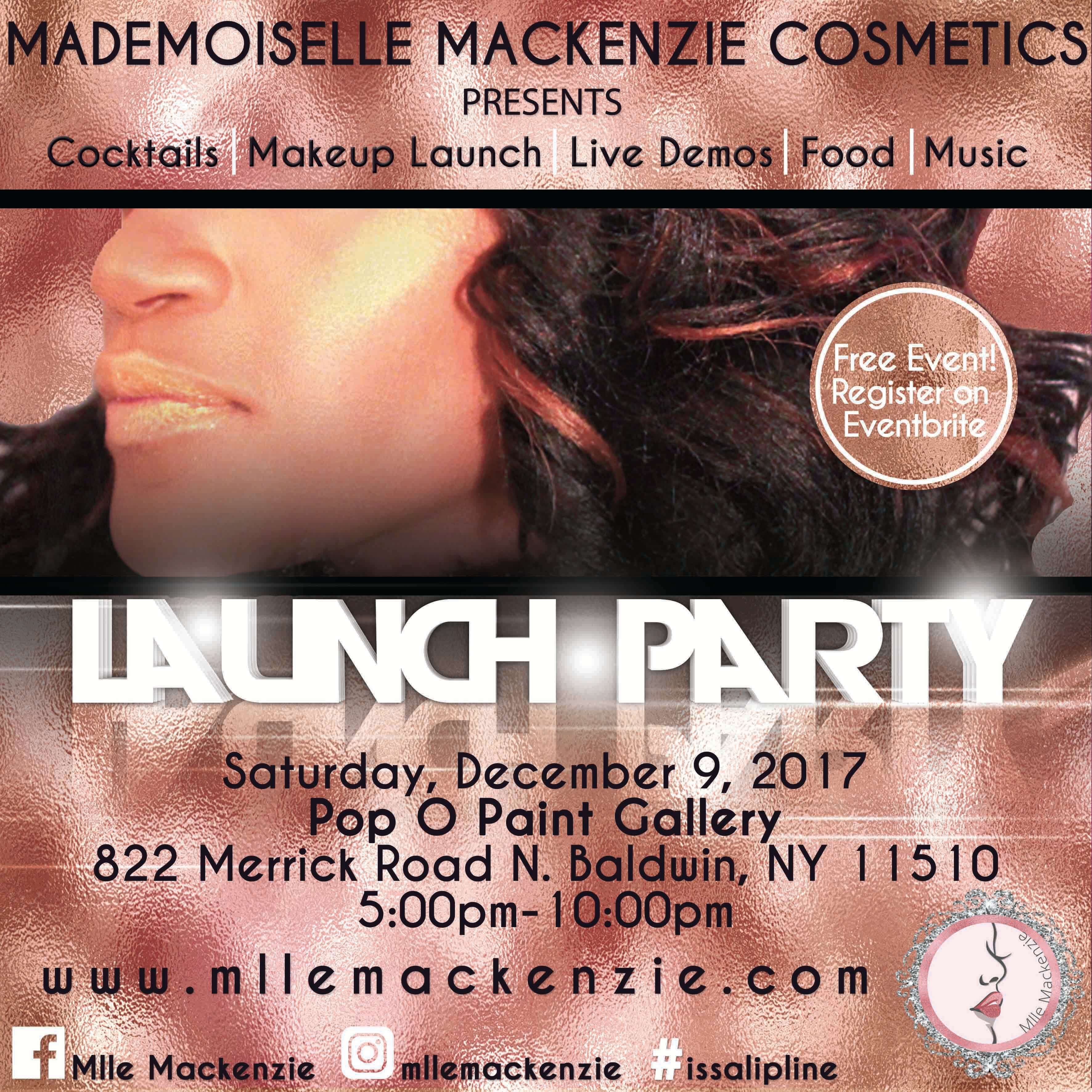 Mlle Mackenzie Launch Party Flyer