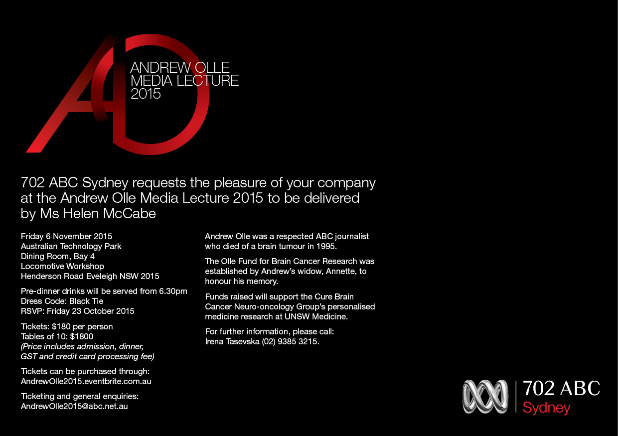 Andrew Olle Media Lecture Invitation