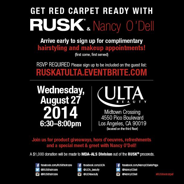 RUSK & Nancy O'Dell Invite