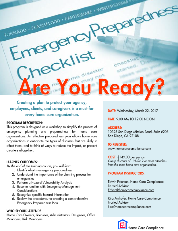 Emergency Preparedness Are You Ready California Home