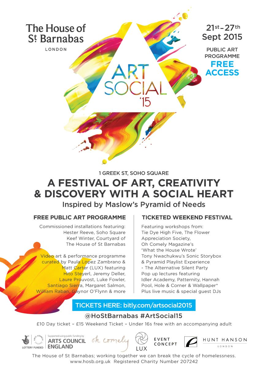 flyer for Art Social 2015
