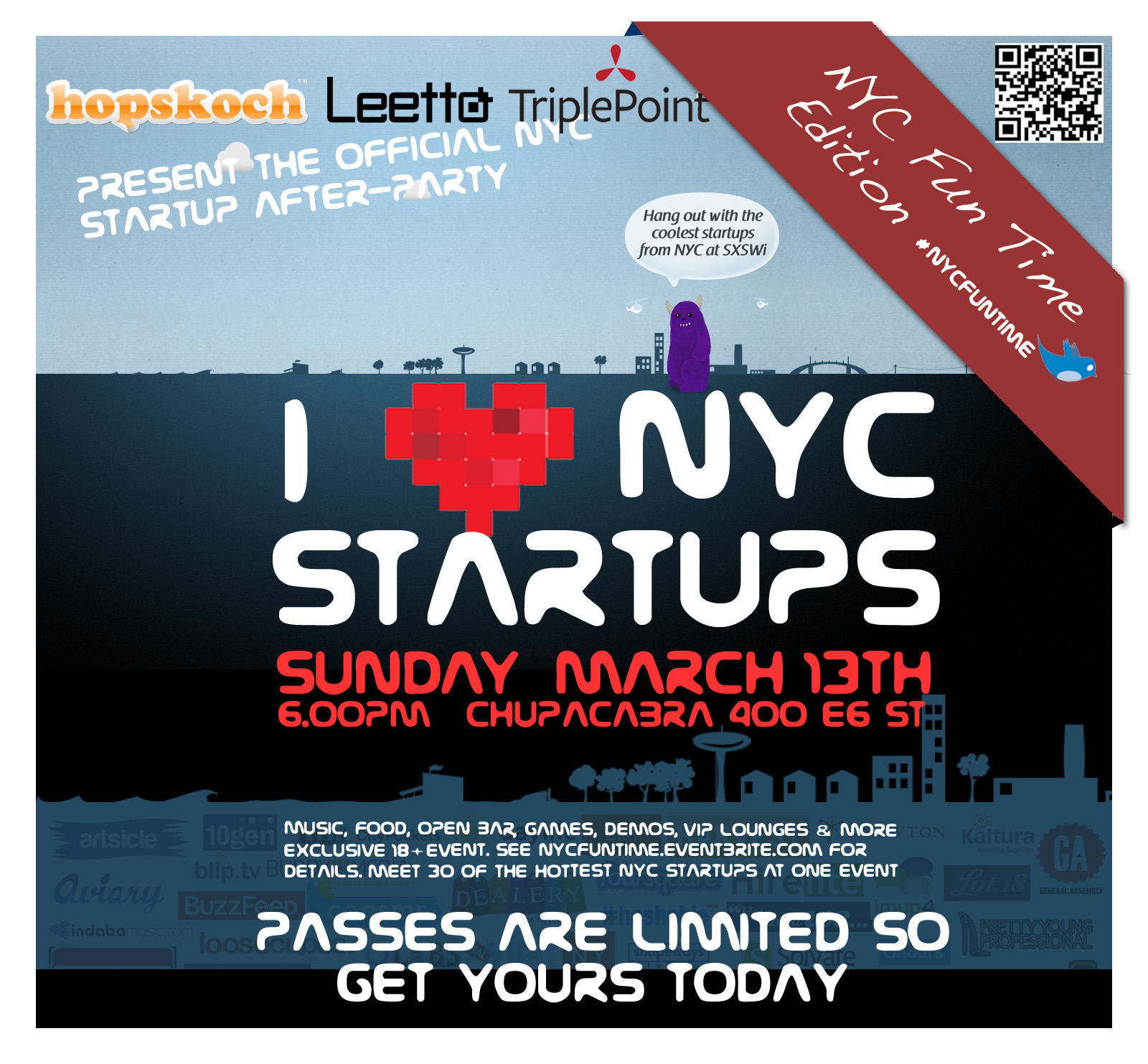 NYC Fun Time -- Meet the hottest startups from NYC