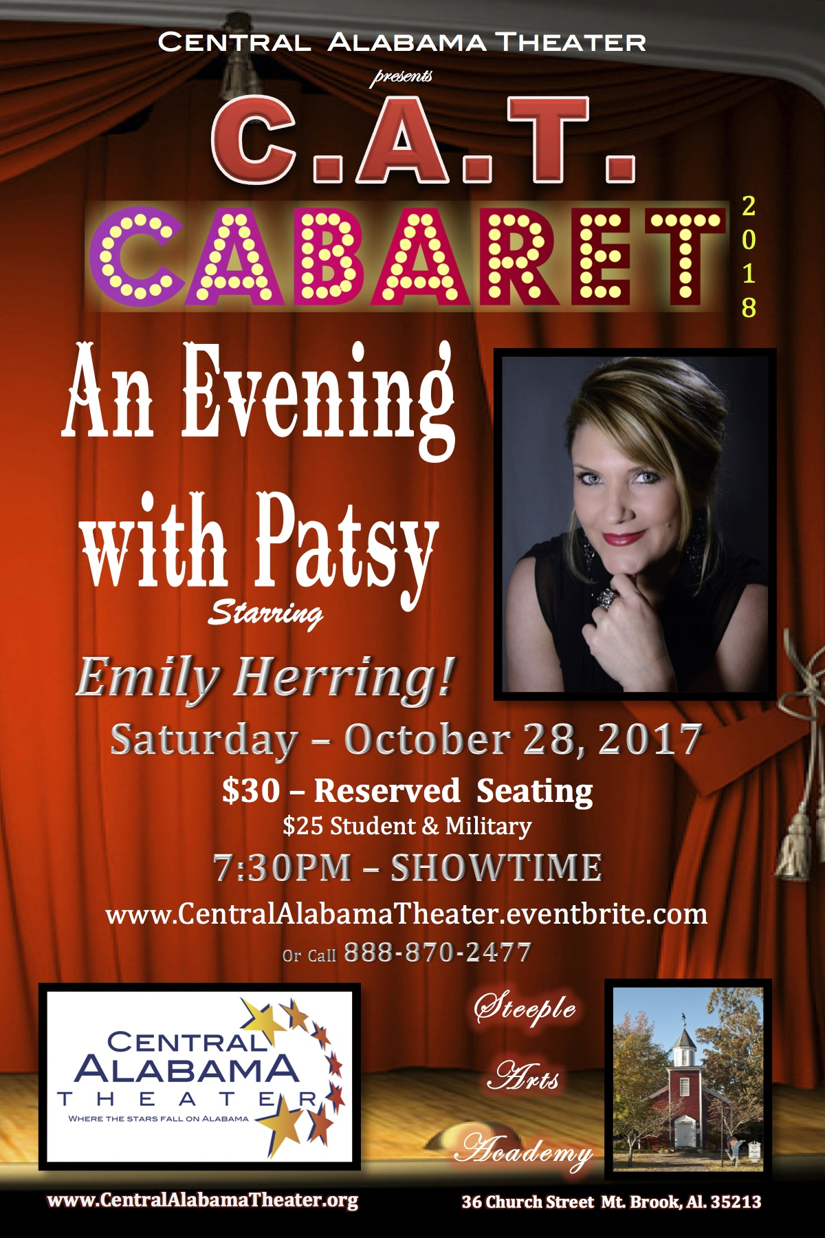 An Evening with Patsy POSTCARD