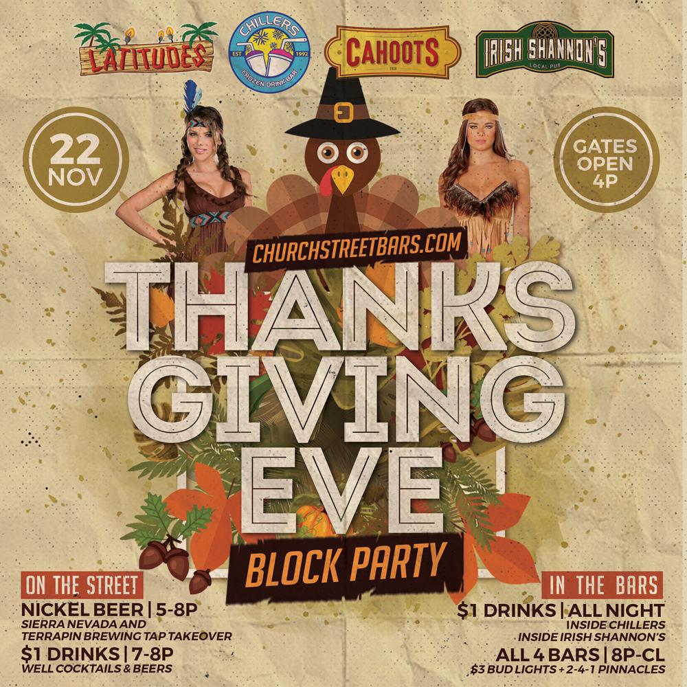 Church Street Bars Thanksgiving Eve Block Party
