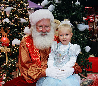 Get your picture taken with our real bearded Santa.