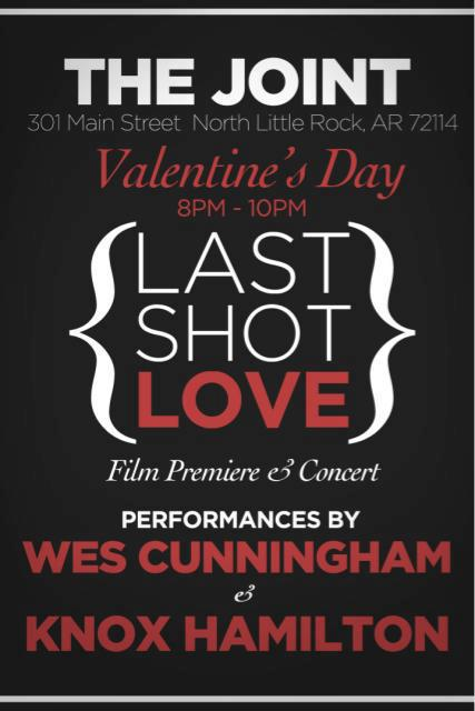 Poster for the Last Shot Love film premiere and concert.