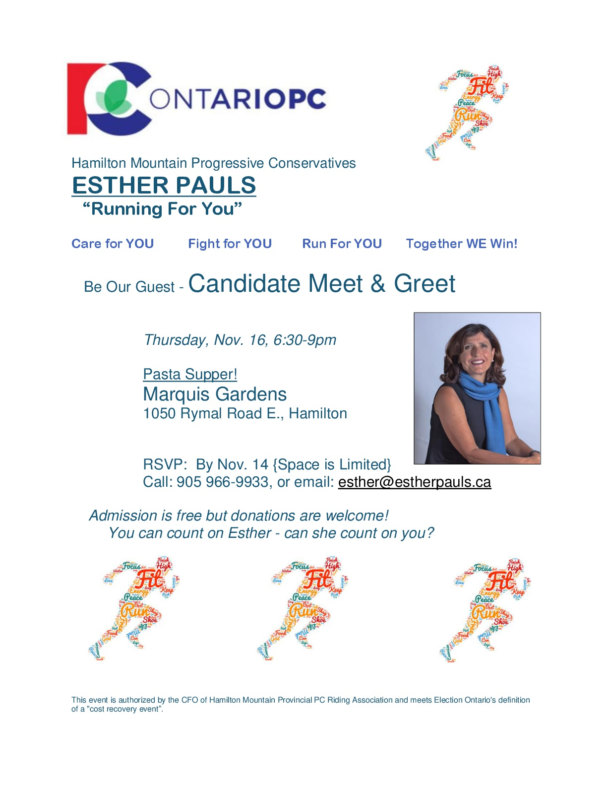 Esther Pauls Pasta Dinner Flyer