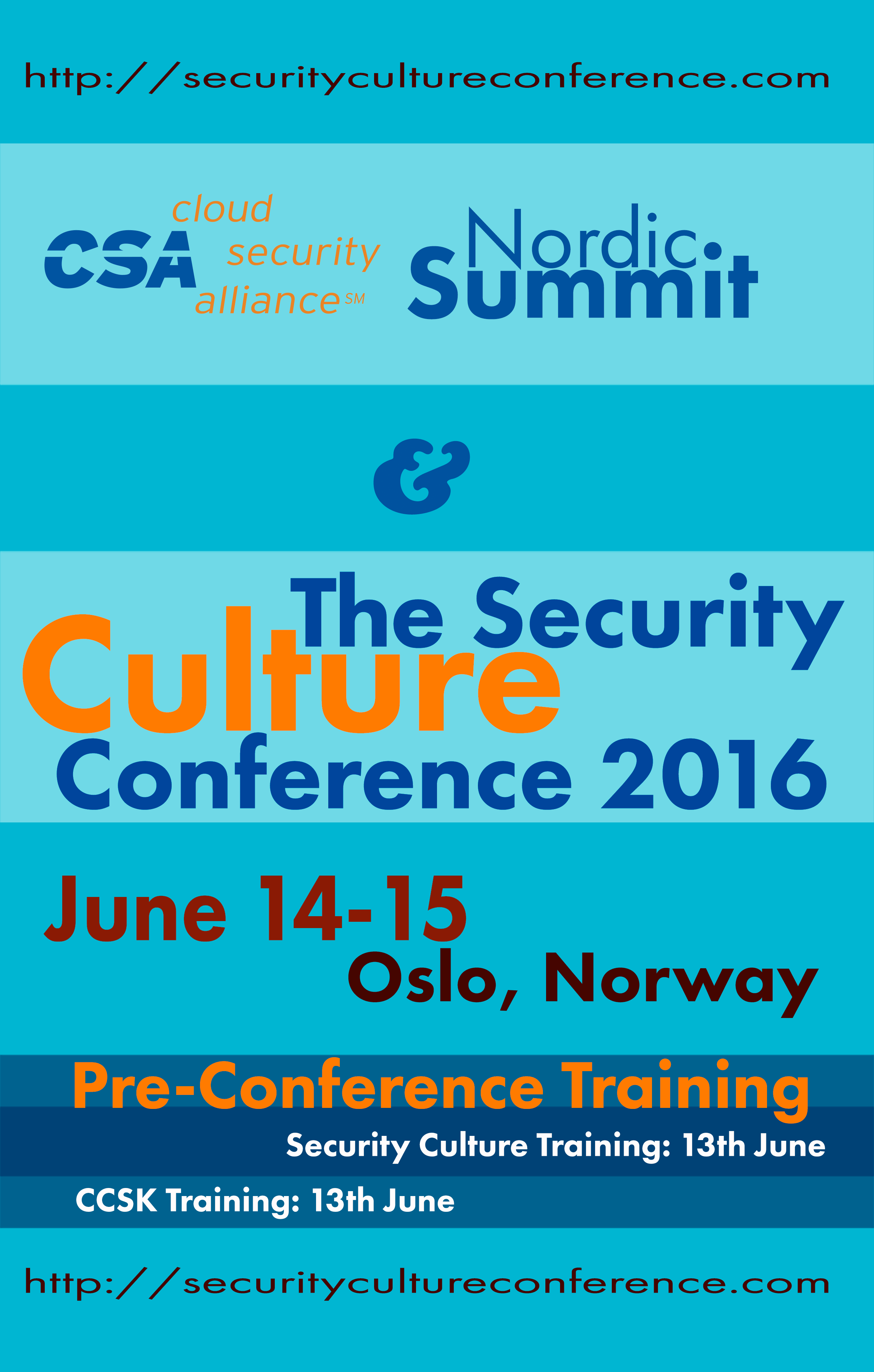 The CSA Nordic Summit and Security Culture Conference 2016