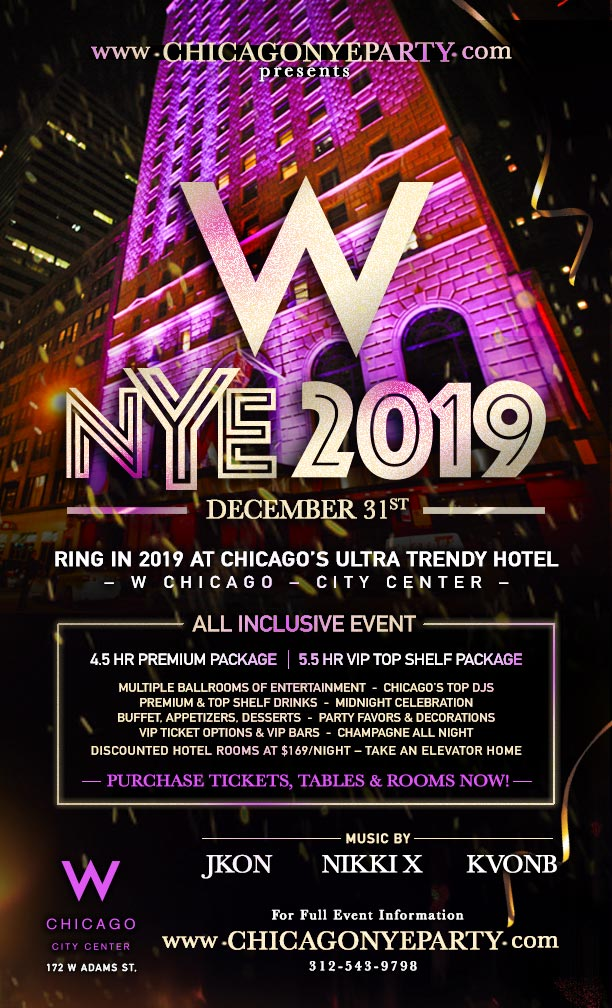 Corona Extra Presents NYE 2019 at The W Chicago Hotel ...