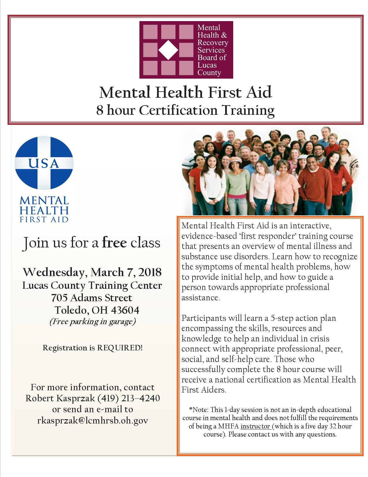 Mental health first aid training march 2018 tickets wed mar 7 description xflitez Gallery