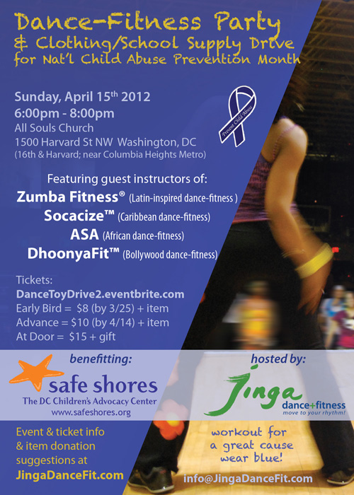 Dance-Fitness Party Flyer
