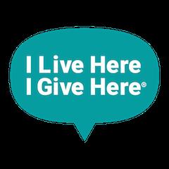 I Live Here I Give Here logo
