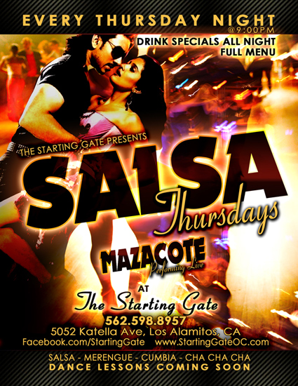 Salsa Thursdays Starting Gate