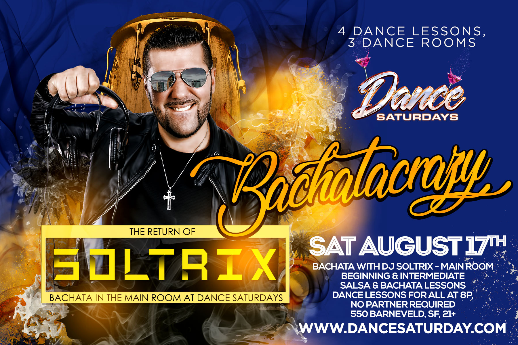 Dance Saturdays with DJ SOLTRIX Bachata in the Main Room