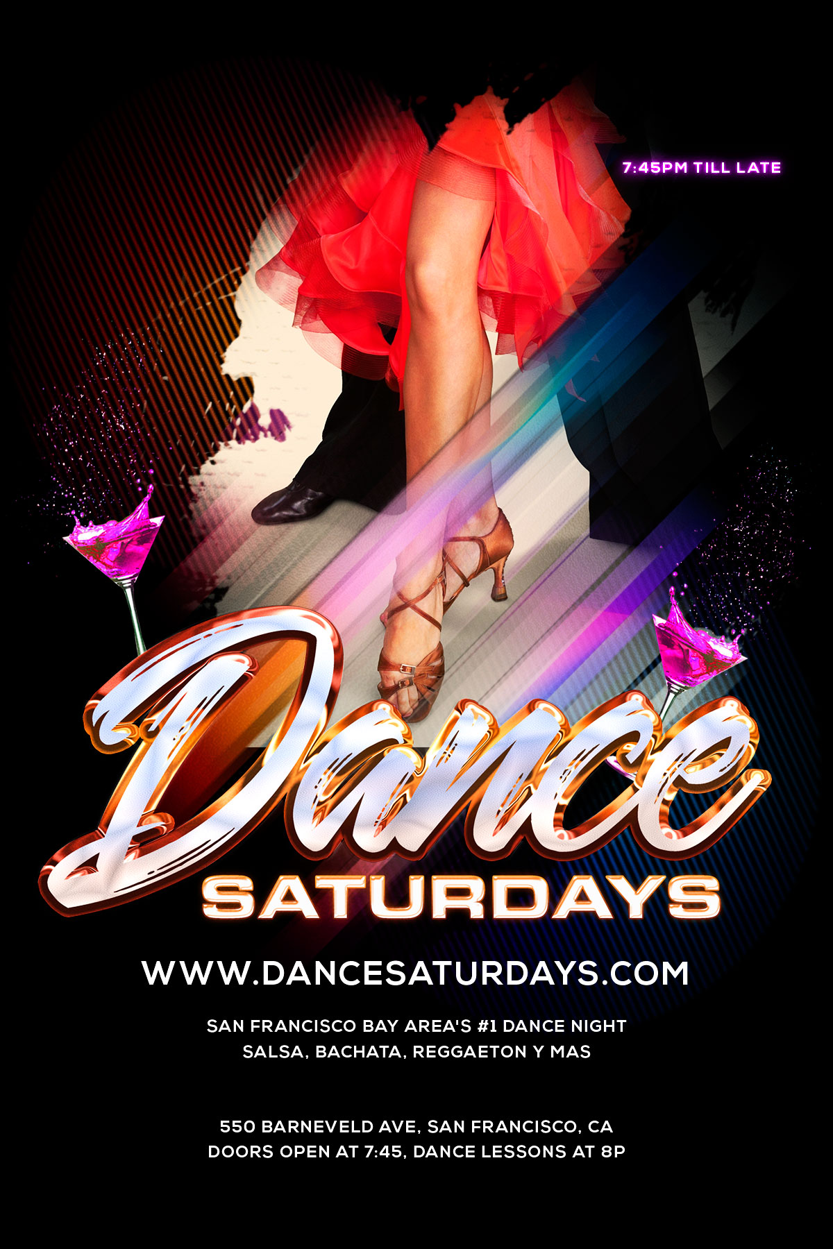 Dance Saturdays, 550 Barneveld, SF, 21+