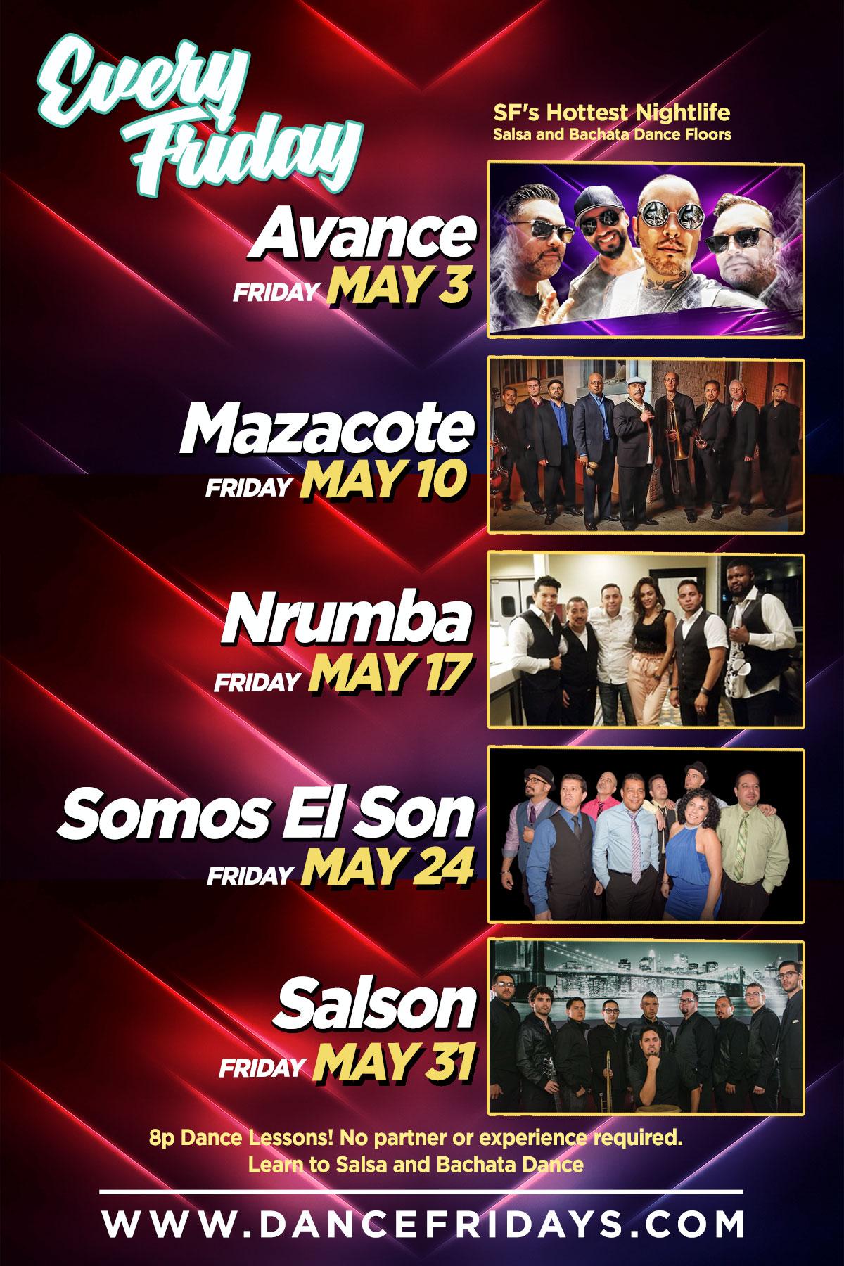 Dance Fridays Cinco de Mayo Weekend, Salsa, Bachata & Reggaeton