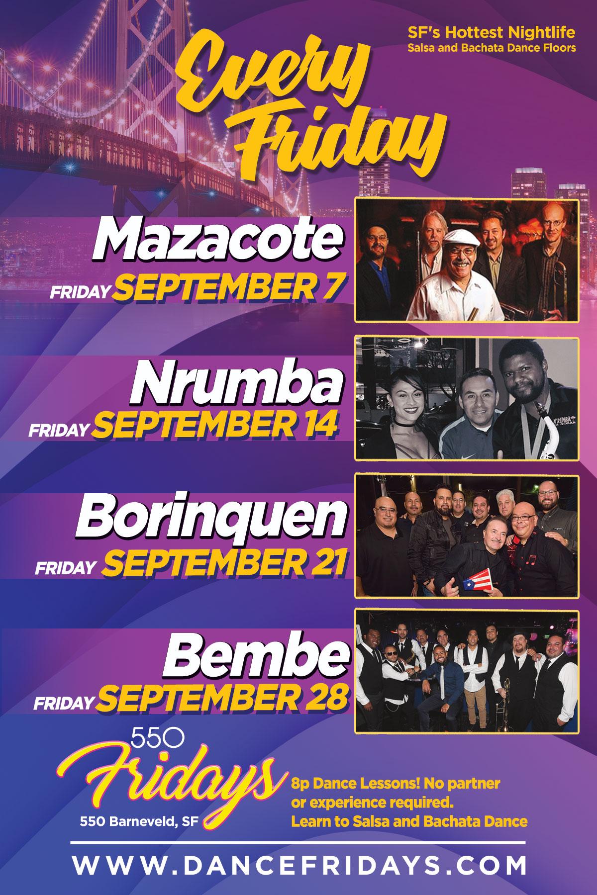 Dance Fridays, 550 Barneveld, SF, 21+