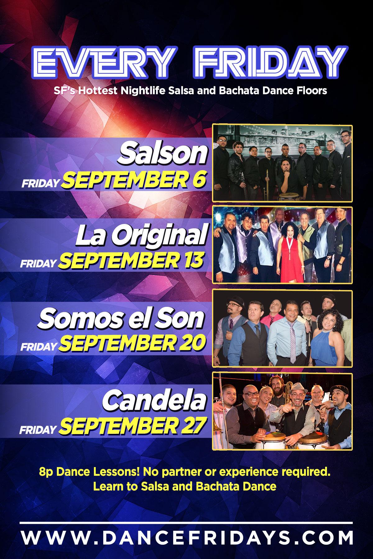 Dance Fridays LIVE Salsa y Bachata Dance Calendar