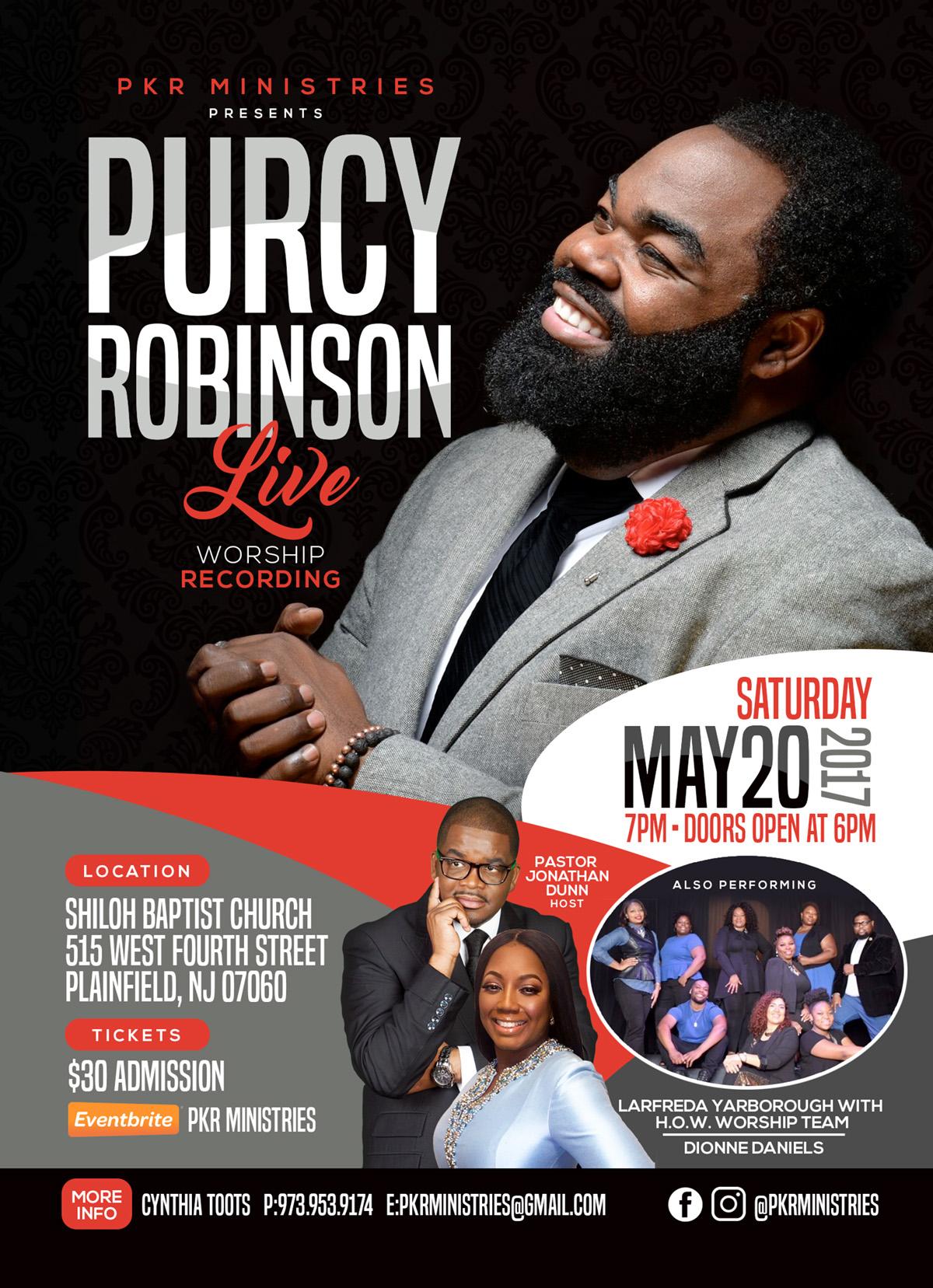 Purcy Robinson Announcement