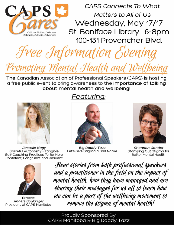 CAPS Cares- Free Information Evening Promoting Mental Health and Wellbeing