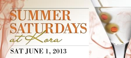 SUMMER SATURDAYS @ KORA LOUNGE...THE JUNE EDITION....