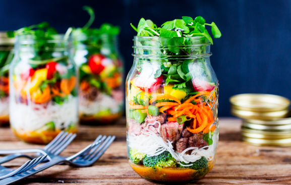 #foodisourfriend spring/summer salads in a jar
