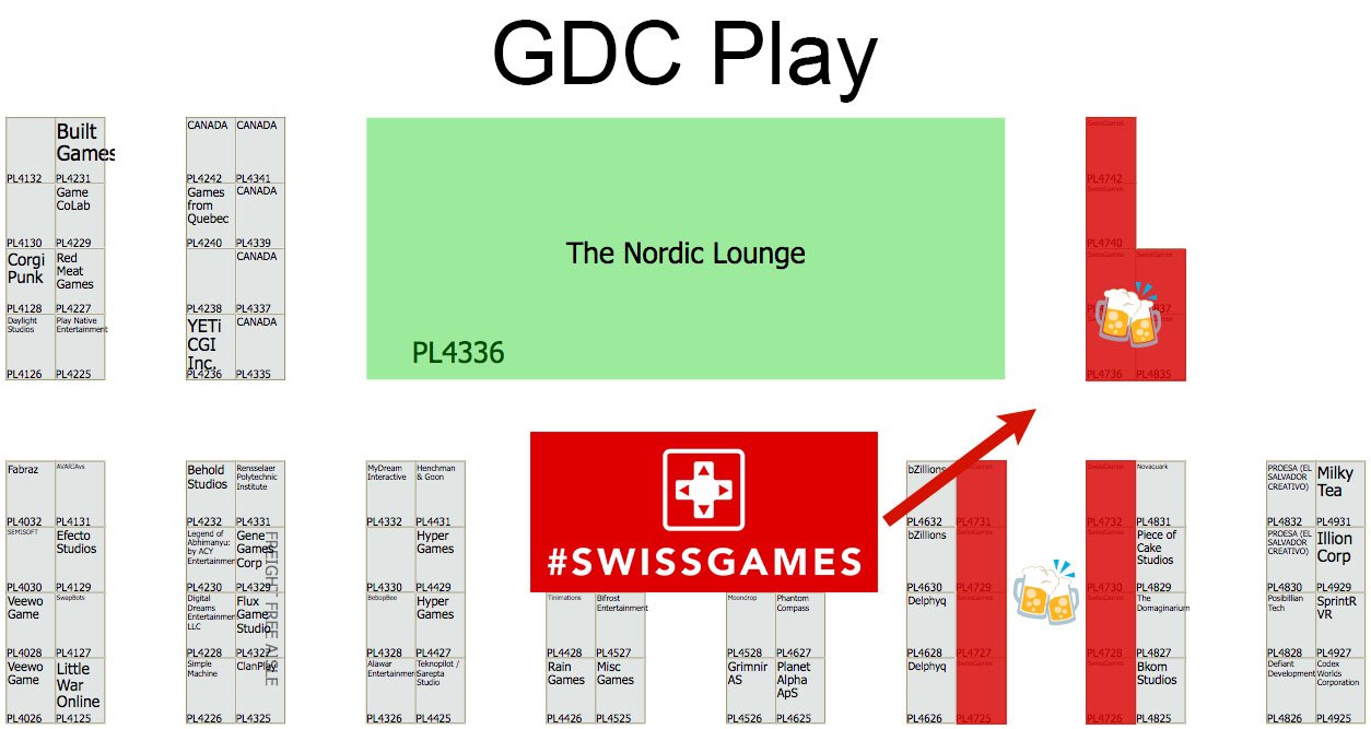 #swissgames booths location