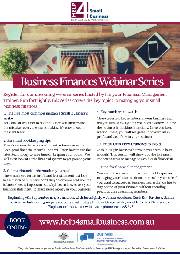 Small Business Finances Webinar