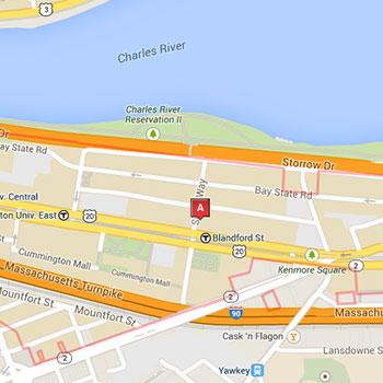 Map of the Boston University area