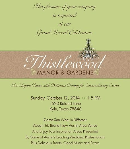 Thistlewood Manor Grand Reveal Invitation