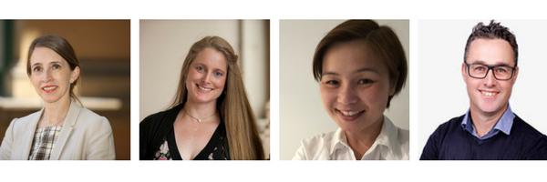 Speakers: L-R Professor Stephanie Watson, Michelle Urquhart, Margaret Lam and Mark Koszek