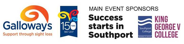 Galloway's Logo & Main Event Sponsors Logo (Southport College & King George V College)
