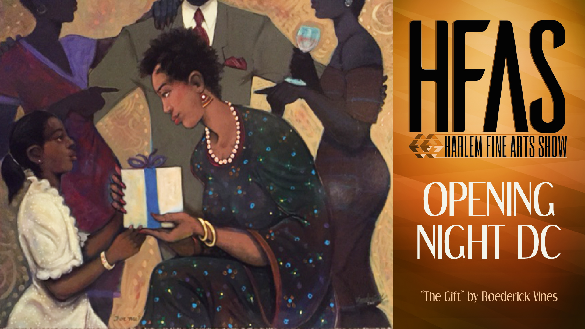 opening night dc at hfas - painting by roederick vines