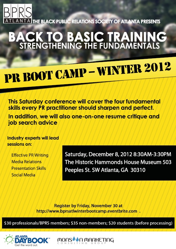 PR Boot Camp 2012
