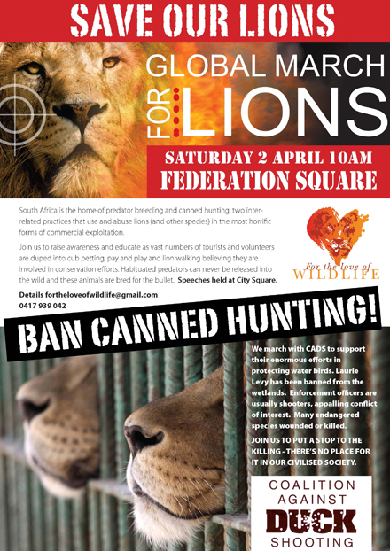 Global March for Lions Poster