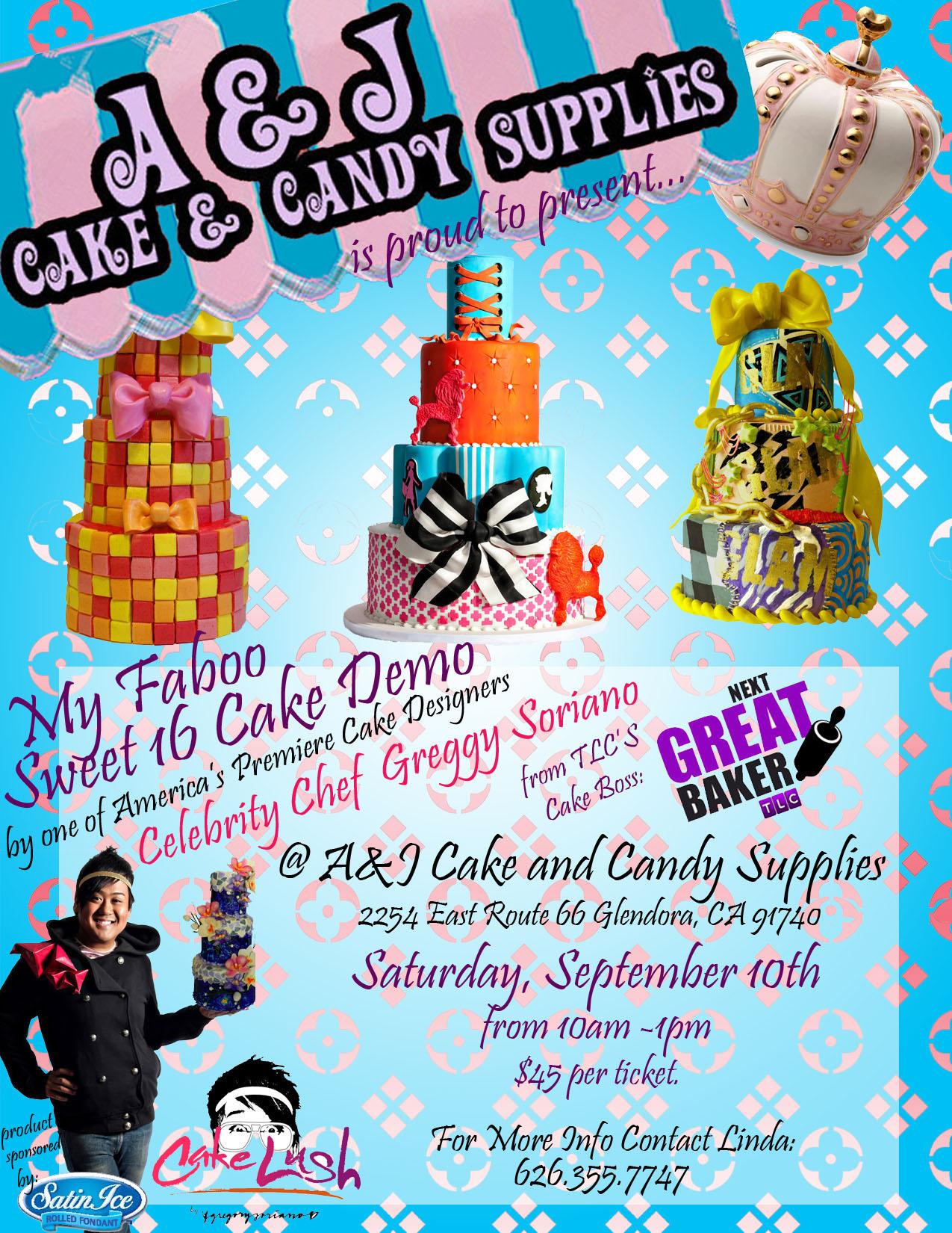 A And J Cake Decorating Glendora : Greggy Soriano s Faboo Sweet Sixteen Cake Demo at A&J Cake ...