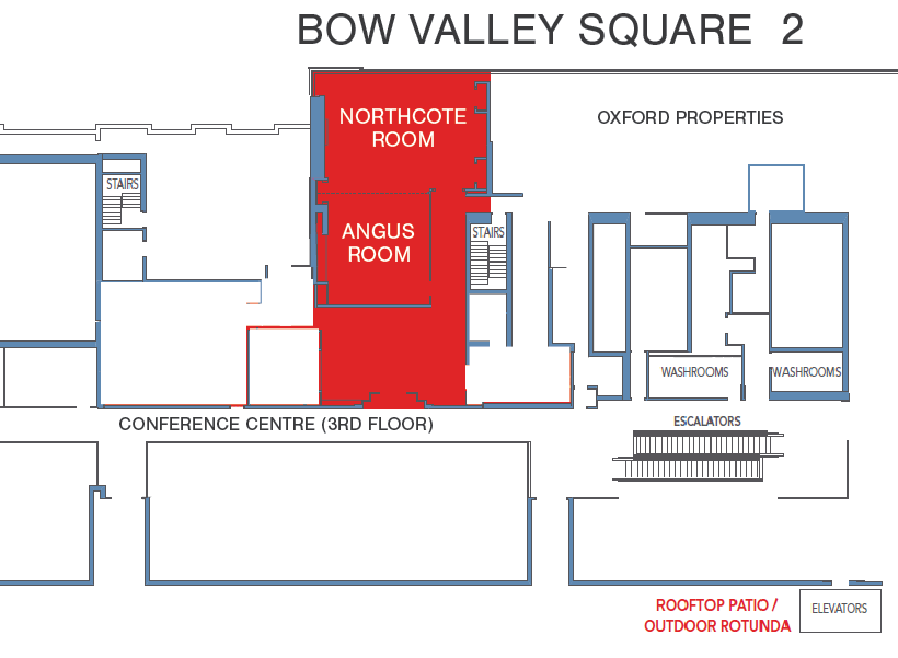 Bow Valley Square conference map