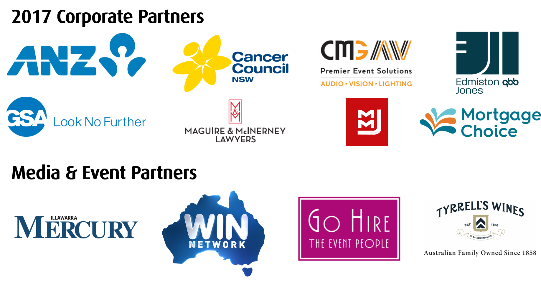 2017 Corporate and Media Partners