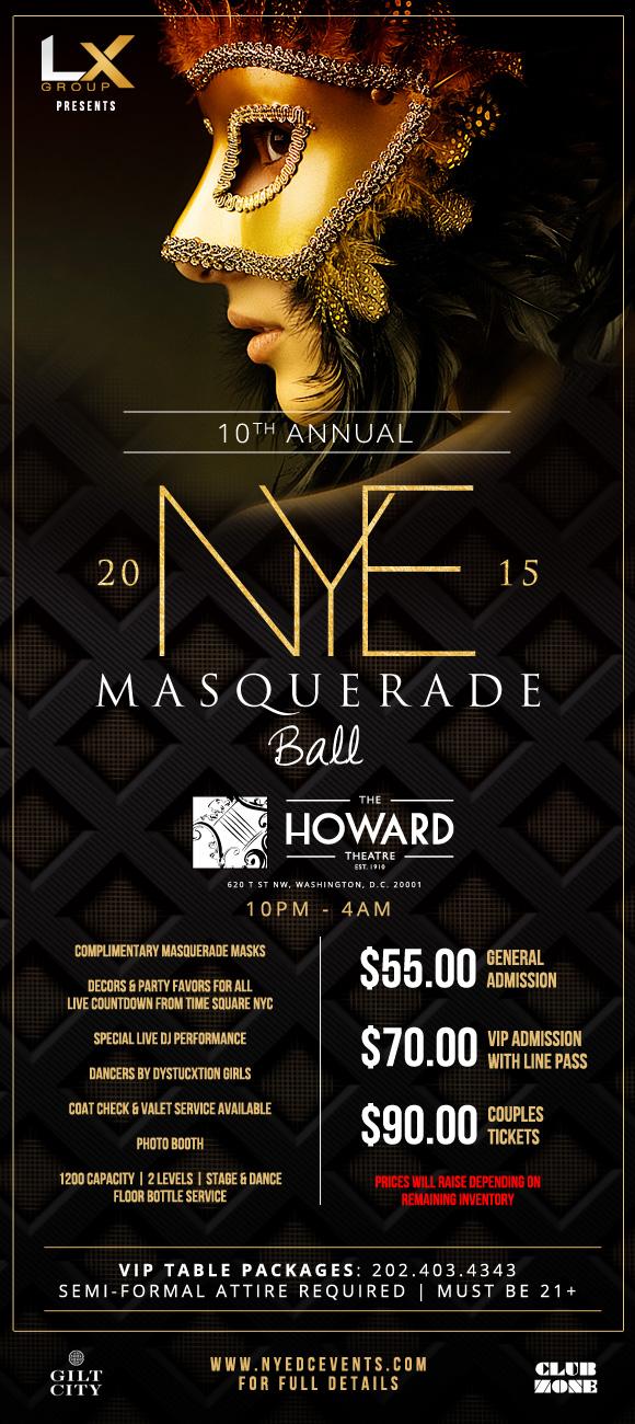 new years eve dc, masquerade ball, 2015, new years
