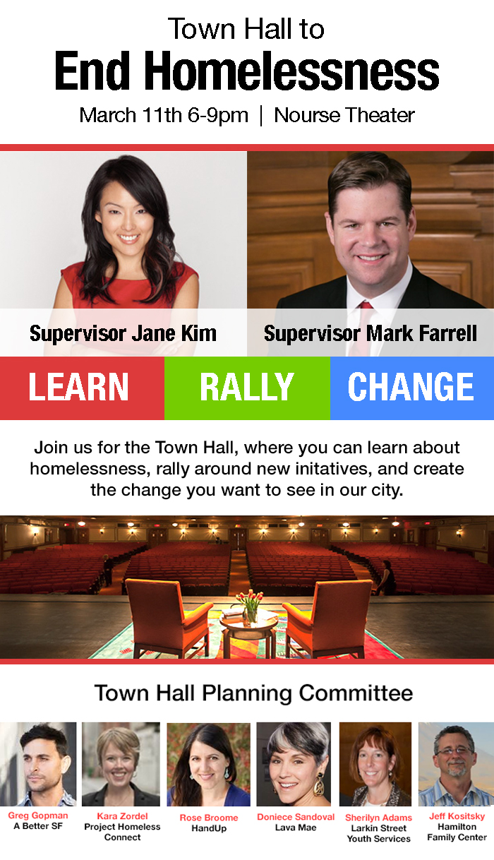 Town Hall to End Homelessness @ Nourse Theater | San Francisco | California | United States