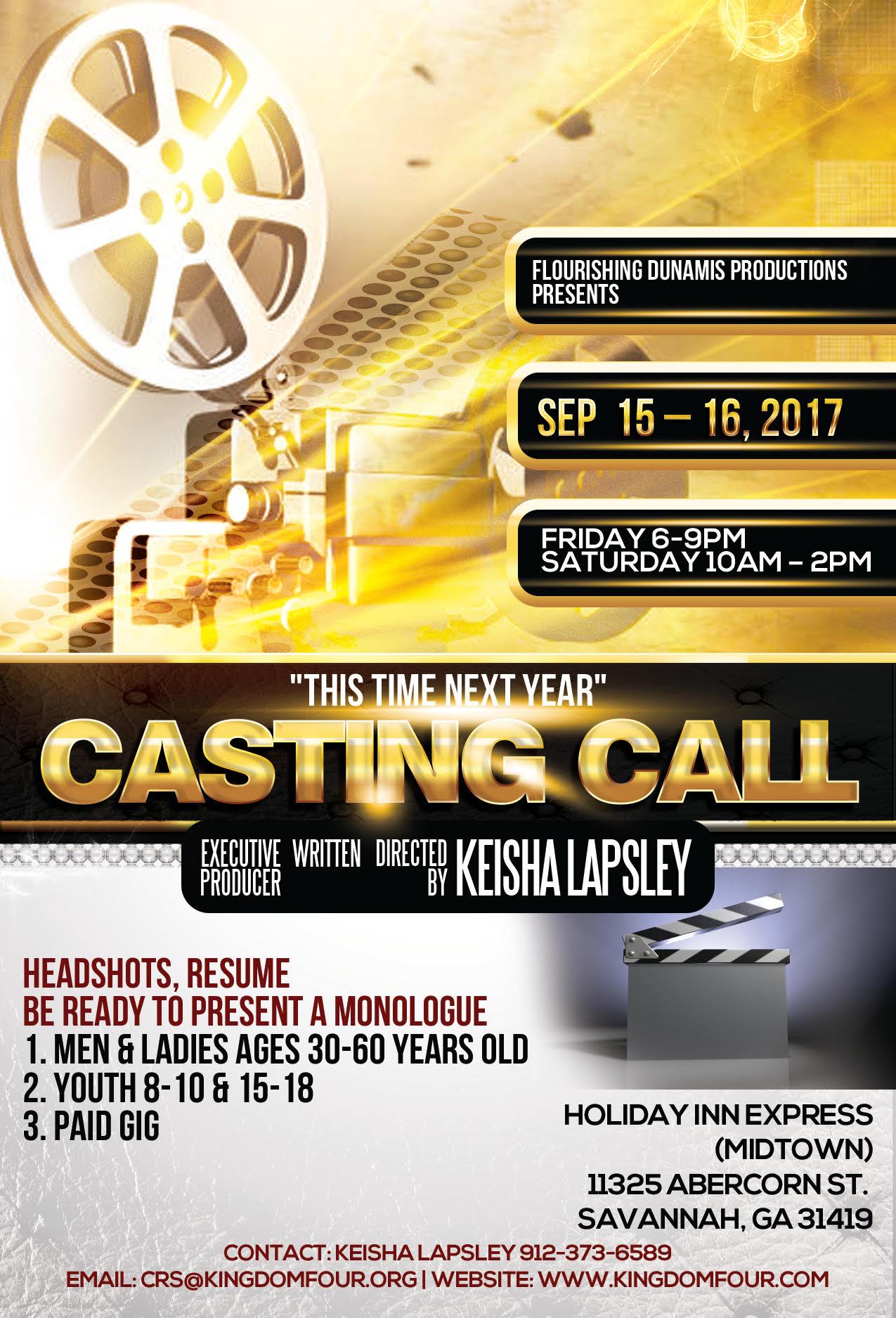 TTNY Casting Call Flyer