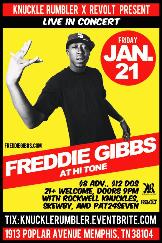 Freddie Gibbs, Rockwell Knuckles, Skewby and Pat24Seven Live at Hi-Tone