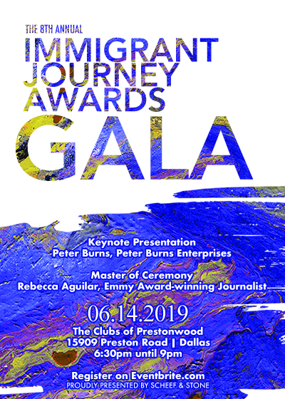Immigrant Journey Awards Gala invite