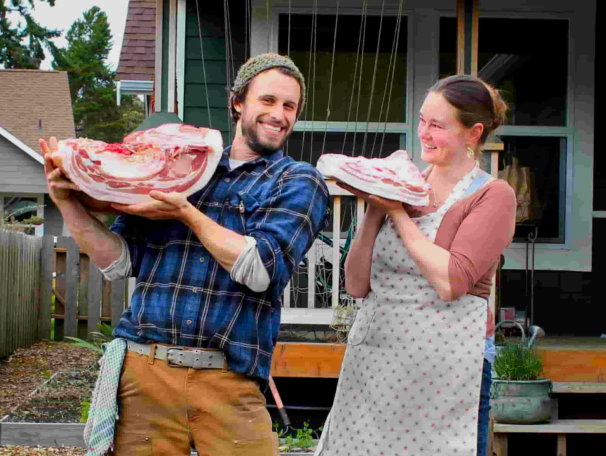 Brandon Sheard with pork belly